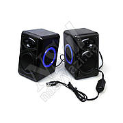 Колонки HOTMAI HT-163 USB + Mini-Jack черно-синие