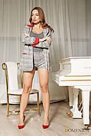 Donna-M Стильный костюм-двойка из удлиненного пиджака и шорт Р 1990, фото 1