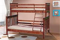 Семейная двухъярусная кровать Скандинавия-Уют 200х140/90 см, деревянная, фото 1