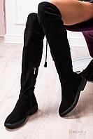 Donna-M Шикарные демисезонные замшевые ботфорты с кисточками Артикул 085, фото 1