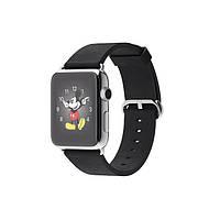 Умные часы Apple Watch на кожаном ремешке с классической пряжкой 42 мм