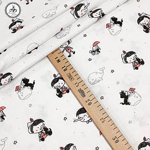 """Польская хлопковая ткань """"Пинокио на белом"""", фото 2"""