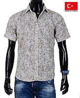 Яркая мужская рубашка  из хлопка
