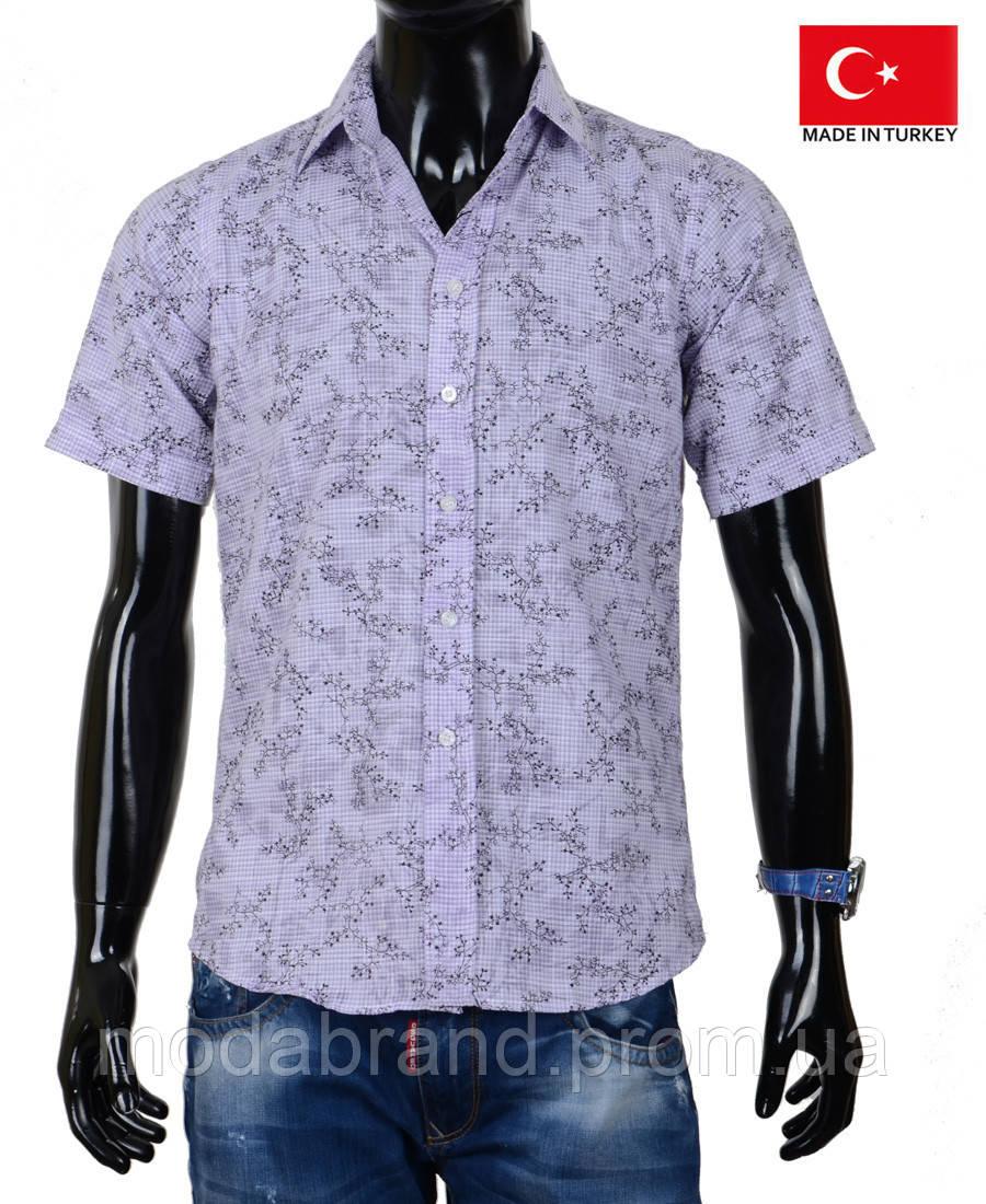 e4ce9c3c41e Летняя мужская рубашка на короткий рукав из хлопка на жаркую погоду. -