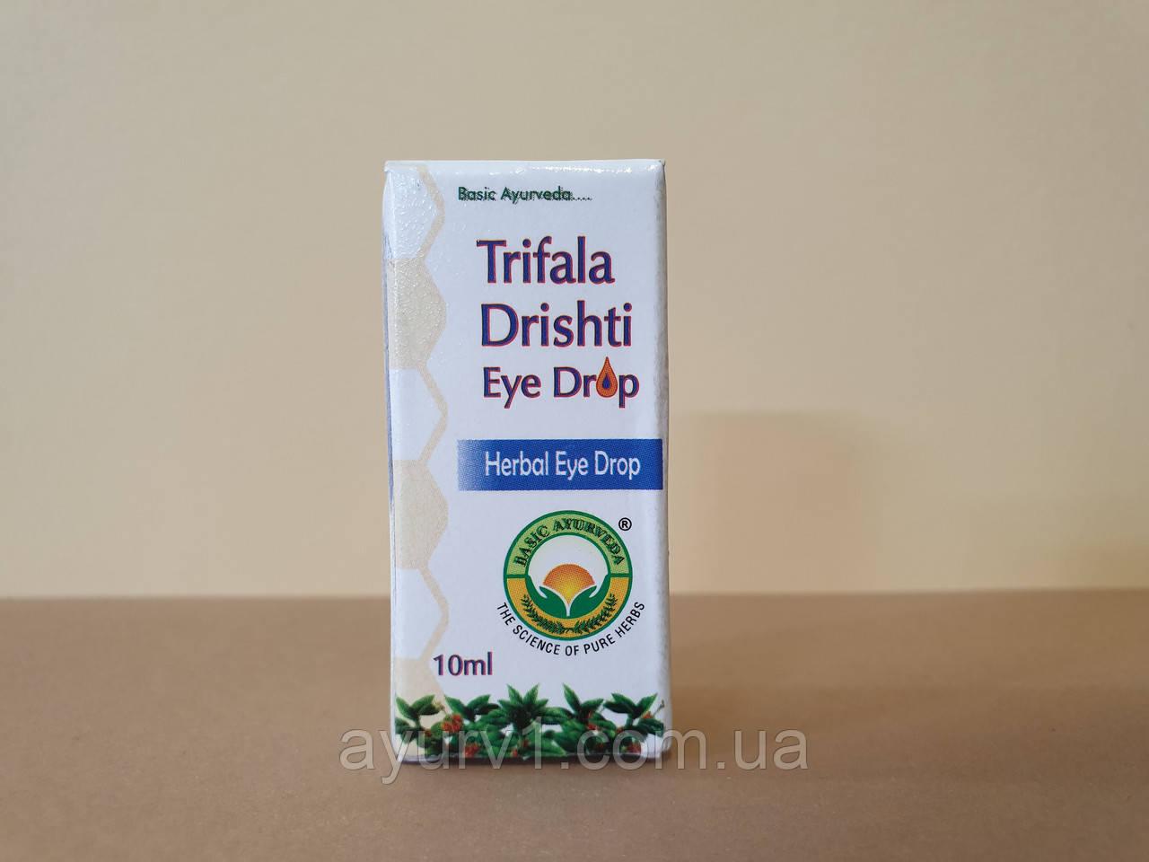 Капли для глаз Трифала дришти / Trifala Drishti Eye Drop / 10 ml