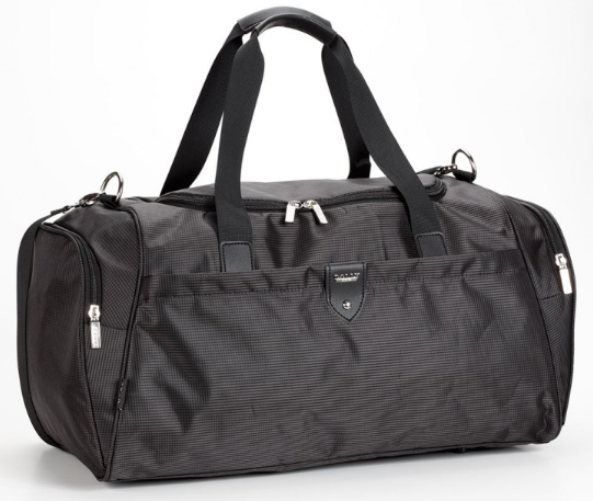 Дорожная спортивная сумка Dolly 787 три расцветки 46 см. - 25 см. - 25 см. Чёрный