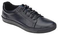 Синие мужские туфли из натуральной кожи Mida 110392-566