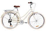 """Жіночий міський велосипед з багажником DOROZHNIK AL SAPPHIRE VBR 28""""(сакура), фото 2"""