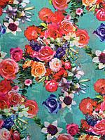 Шифон бирюзовая весна, фото 1