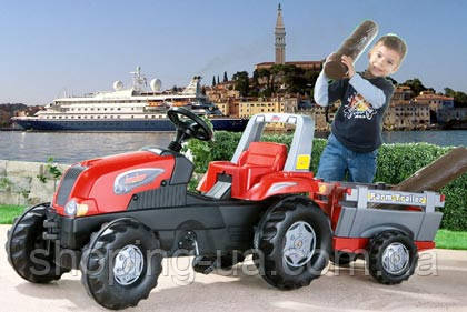 Трактор на педалях с прицепом rollyJunior RT Rolly Toys 800261, фото 2