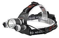 Налобный фонарь Police RJ-3000 (Cree T6+2Q5, 1600 люмен, 4 режима работы, 2x18650)