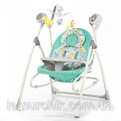 Колыбель-качели 3 в 1 (качель-шезлонг-стульчик для кормления) Baby Tilly BT SC 005 бирюзовый
