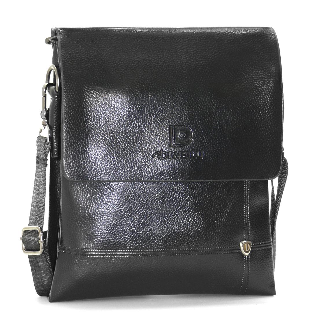 Мужская сумка-мессенджер DIWEILU 22х26х6 вертикальная м 1856-3ч