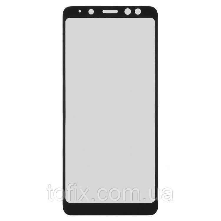 Защитное стекло 3D на весь экран для Samsung Galaxy A8 (2018) A530, черный