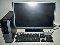 "Комплект, компьютер 4 ядра DellOptiPlex 990 i5-2400, 3,1GHz/4Gb/320 Gb .+ монитор 22""дюйма ACER B223WL Б/У"