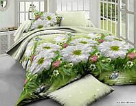 Полуторное постельное белье бязь gold - Три ромашки