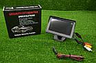 Цветной автомобильный монитор 4,3'' с 2-мя видеовыходами для камеры заднего вида, фото 4