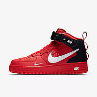 b340300b Мужские кроссовки Nike Air Force 1 TM Red (в стиле Найк) красные с черным