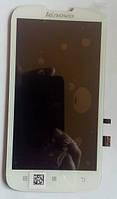 Lenovo A560 дисплей в зборі з тачскріном модуль білий