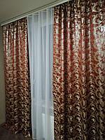 Жаккардовые шторы без ламбрекена , фото 1
