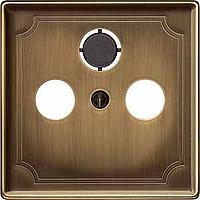 Накладка для антенной розетки латунь Shneider Merten (MTN294143)