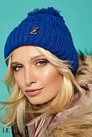"Donna-M Прелестная теплая шапочка ""Louis Vuitton"" с бубоном V 5"