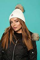 "Donna-M Прелестная теплая шапочка ""Moncler "" с бубоном V 67, фото 1"