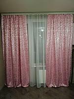 Комплект штор из жаккардовой ткани без ламбрекена, фото 1