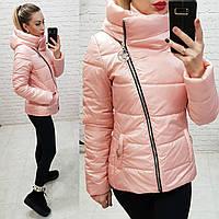 Куртка весна-осень с капюшоном, арт 501, цвет персик