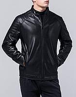 Осенняя мужская куртка черная из кожзама Braggart Youth.Разм 50 (L)-56 e842ebece40ee