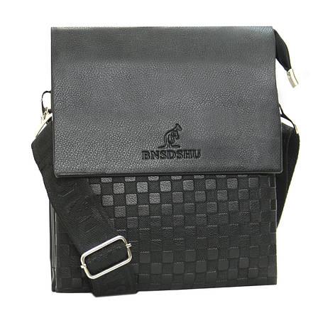 Мужская сумка-мессенджер BNSDSHU вертикальная 21х26х6  м Н2-1ч, фото 2