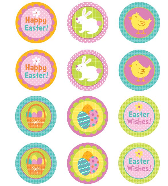 "Картинки для кап-кейков"" Happy Easter!"" А4 Galette - 01262"