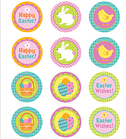 "Картинки для кап-кейков"" Happy Easter!"" А4 (код 01262)"