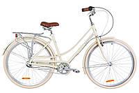 """Жіночий міський велосипед з багажником DOROZHNIK AL SAPPHIRE PH 28""""(бежевий), фото 1"""