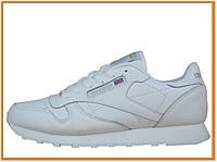 Мужские кроссовки Reebok Classic White (рибок классик, белые)