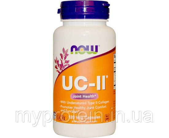 NOWНеденатурированный белок коллагенUC-II Type Collagen120 veg caps