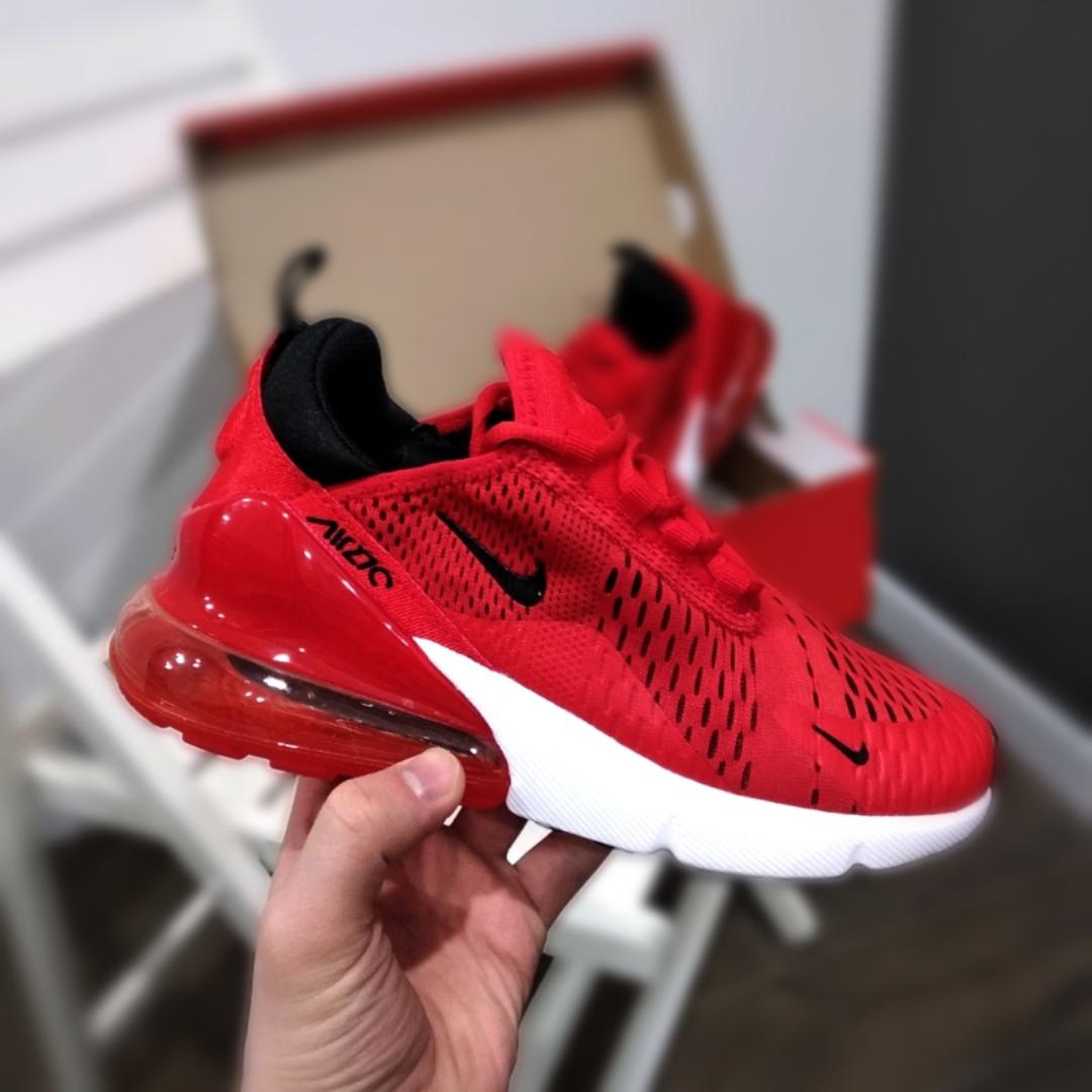 66264f9f Женские кроссовки Nike Air Max 270 (в стиле Найк Аир Макс) красные с белым