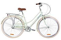 """Жіночий міський велосипед з багажником DOROZHNIK AL SAPPHIRE PH 28""""(мохіто), фото 1"""