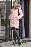 Donna-M Зимнняя теплая удлиненная куртка с мехом Р 2327, фото 1