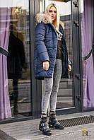 Donna-M Сказочная удлиненная куртка с мехом Р 2327, фото 1