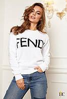 Donna-M Cвитшот из хлопка в стиле FENDI V 85, фото 1