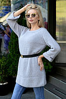 Женское вязанное платье-туника, фото 1