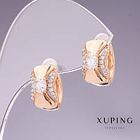 Серьги Xuping 14х9мм позолота 18к