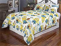 Детское (подростковое) полуторное постельное белье бязь Gold - Миньйоны