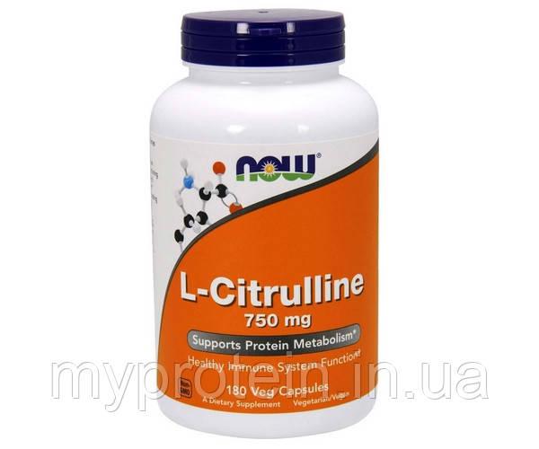 NOW Аминокислота цитрулин L-Citrulline 750 mg (90 veg caps)
