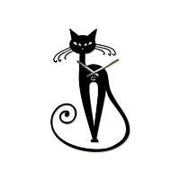 Годинники настінні Чорна кішка