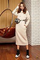 Donna-M Платье с капюшоном в спортивном стиле Р 2373, фото 1