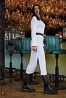 Donna-M Длинное белоснежное шерстяное платье V 101, фото 1