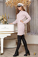 Donna-M Платье из шерсти и акрила с вязаным узором V 91, фото 1