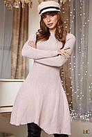 Donna-M Платье гладкой вязки с расклешенным подолом V 102, фото 1